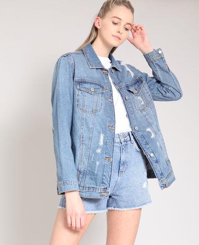 XL-jeansvest denimblauw