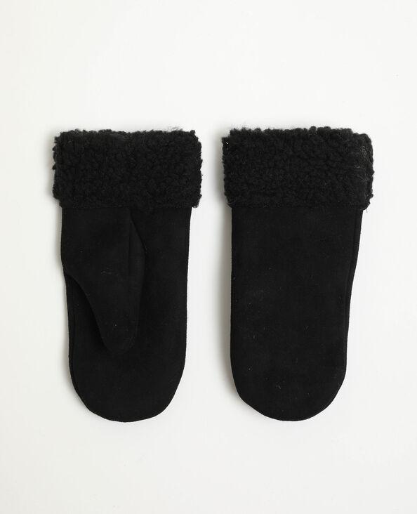 Moufles en suédine noir