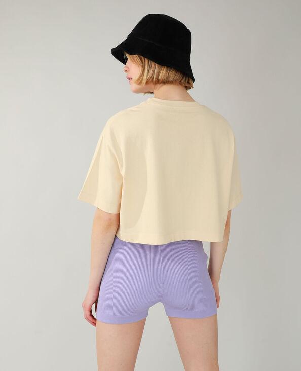 Cropped T-shirt beige - Pimkie
