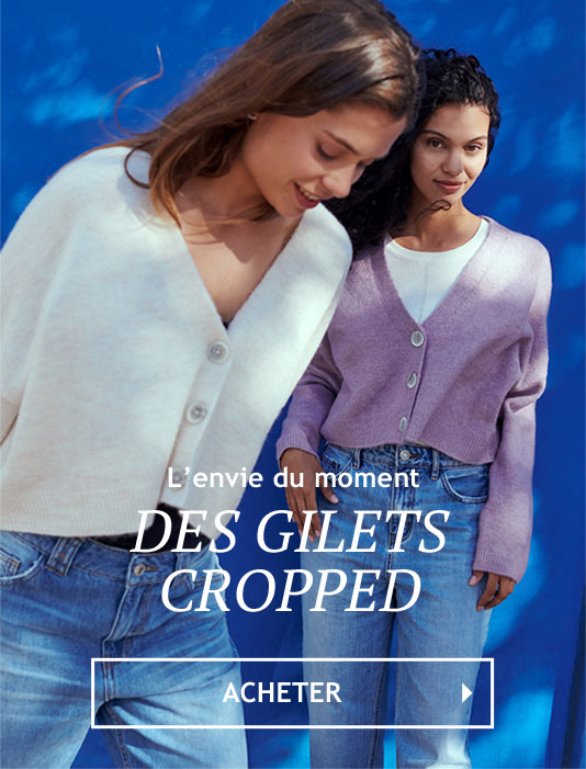 Gilet cropped