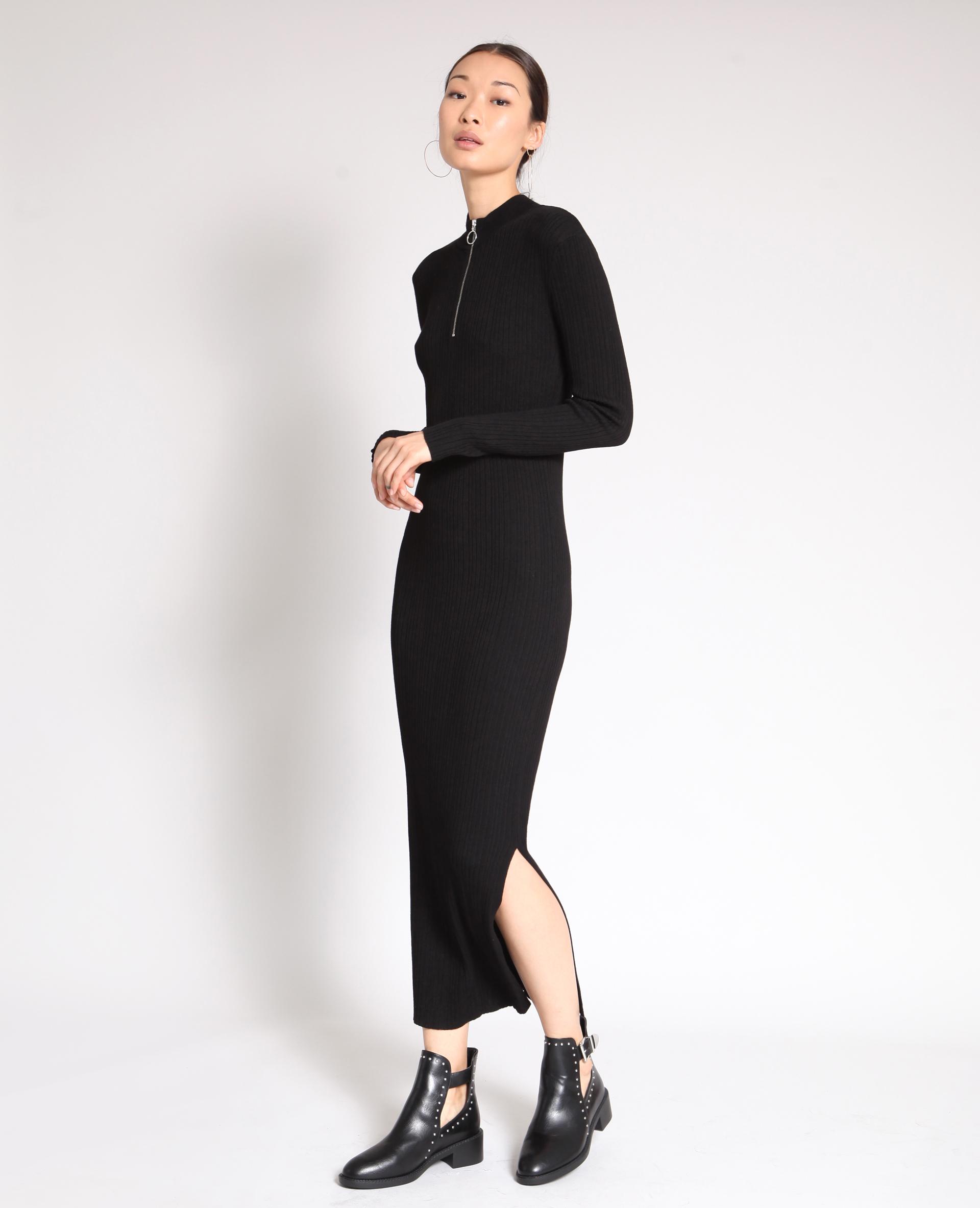 Hedendaags Lange strakke jurk zwart - 780914899A08   Pimkie WV-36