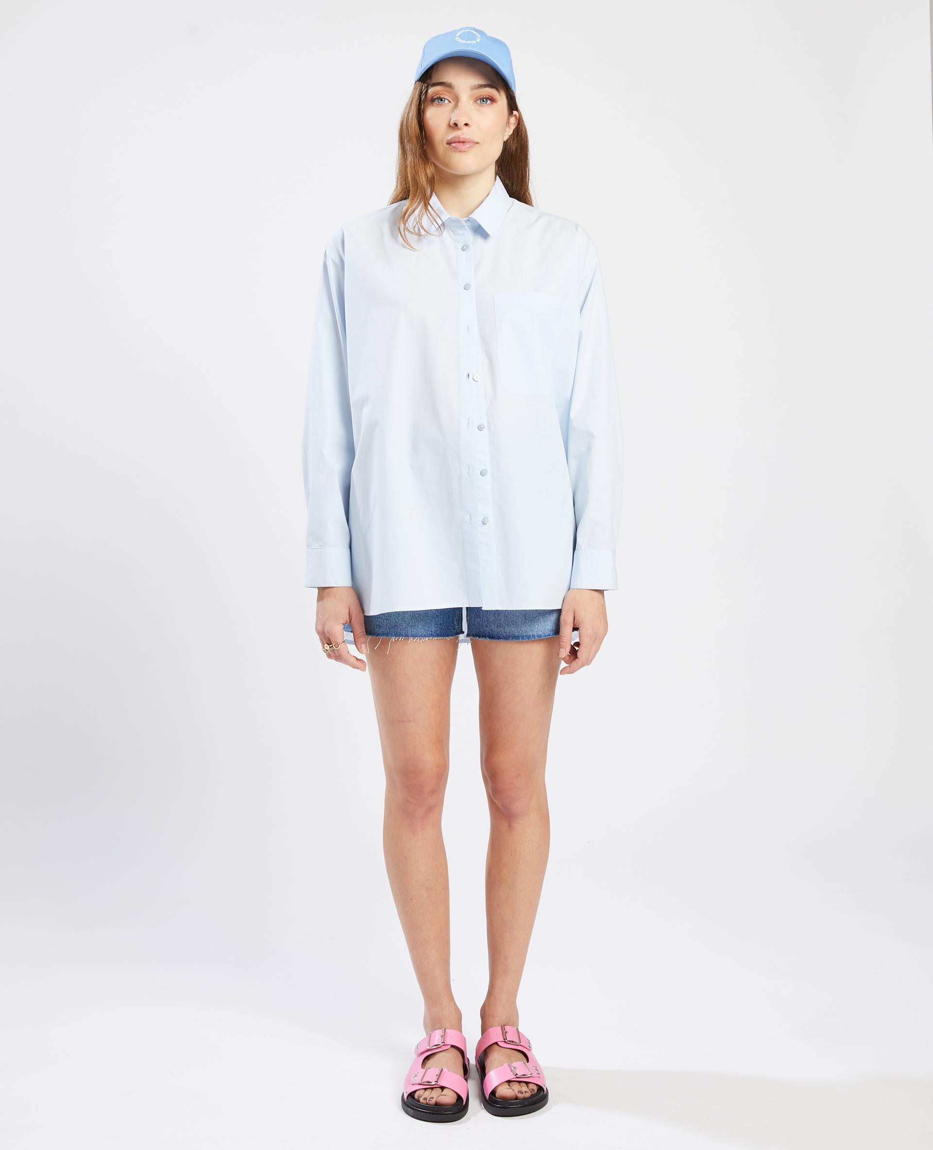 Chemise oversize bleu - Pimkie