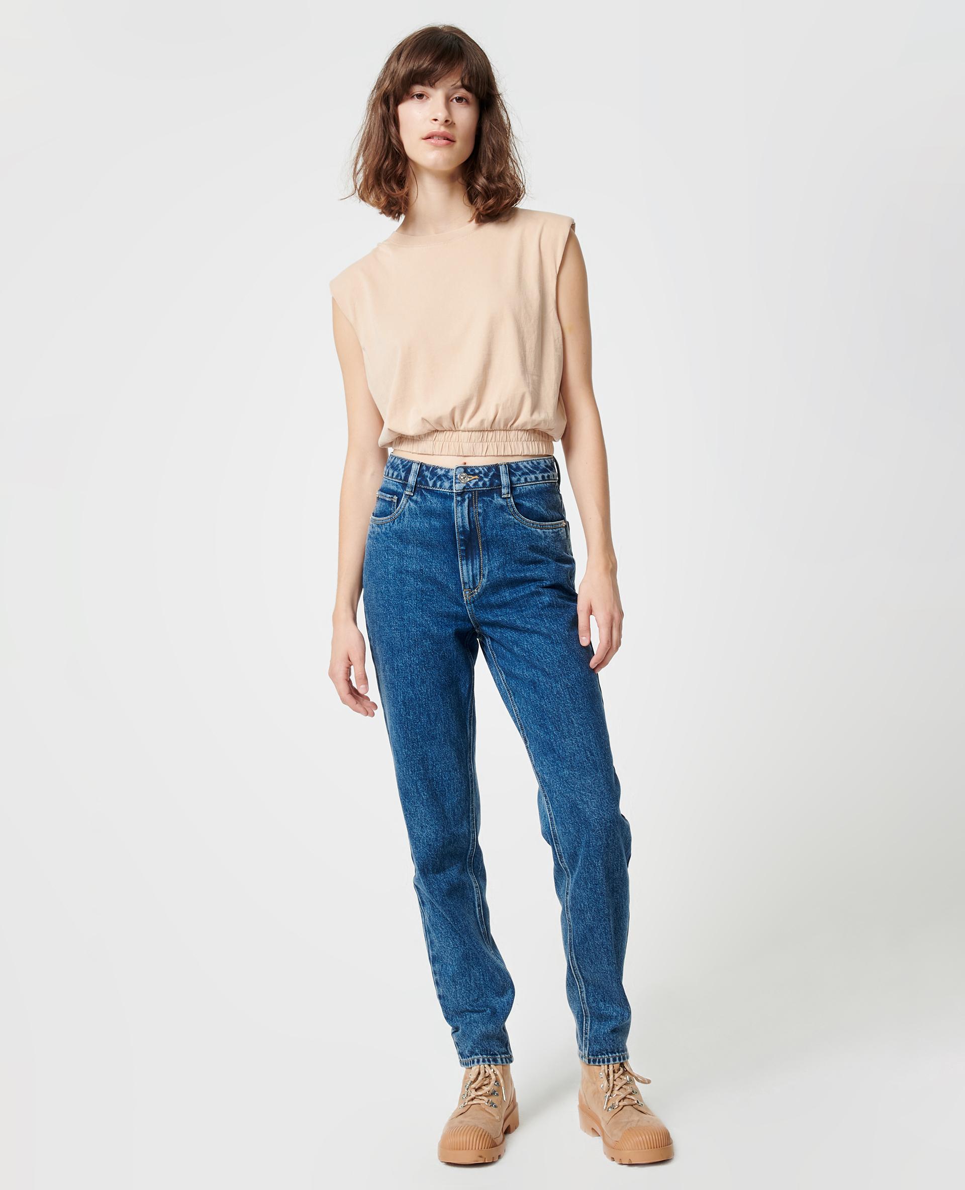 Jeans met hoge taille denimblauw - Pimkie