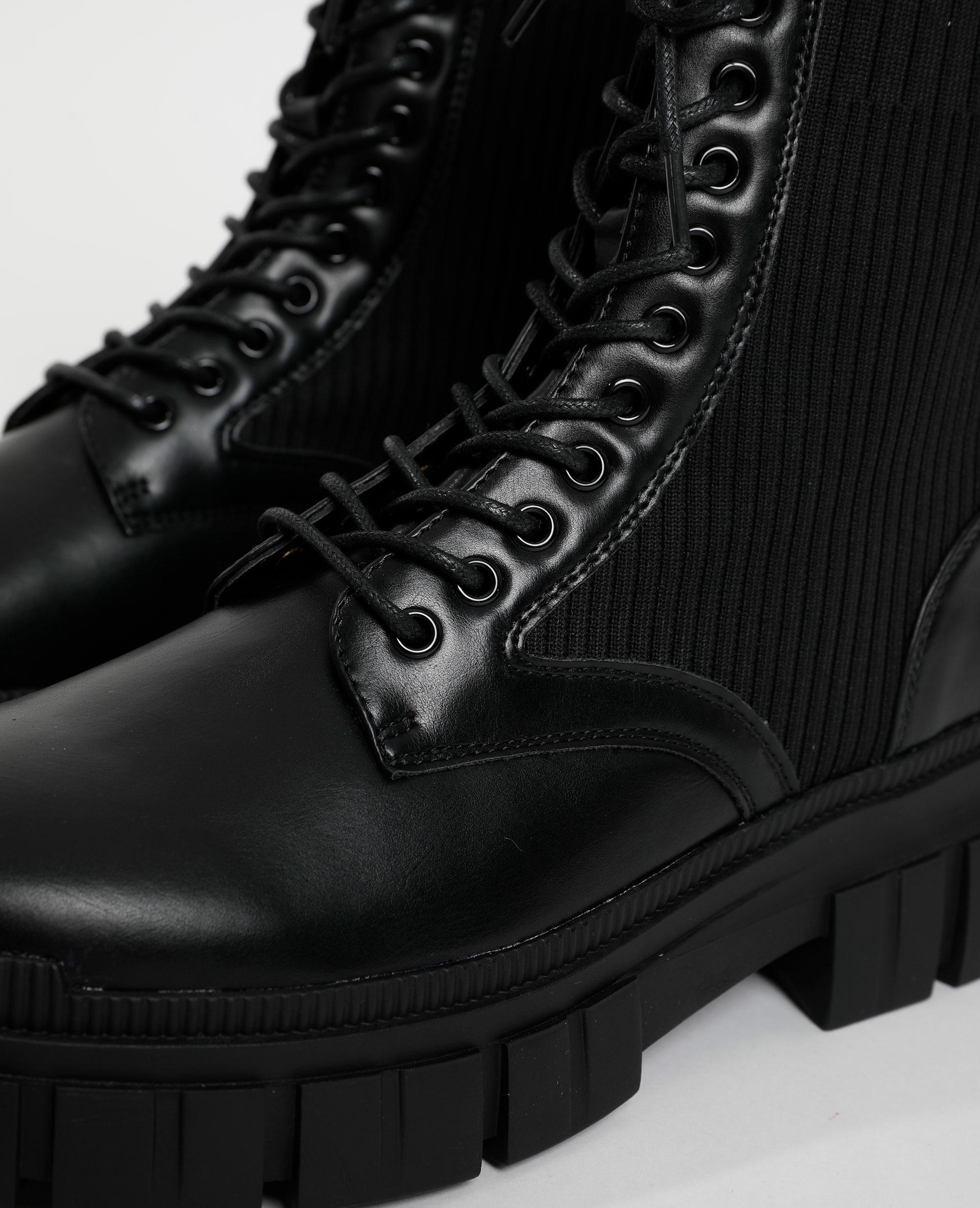 Boots en maille noir - Pimkie