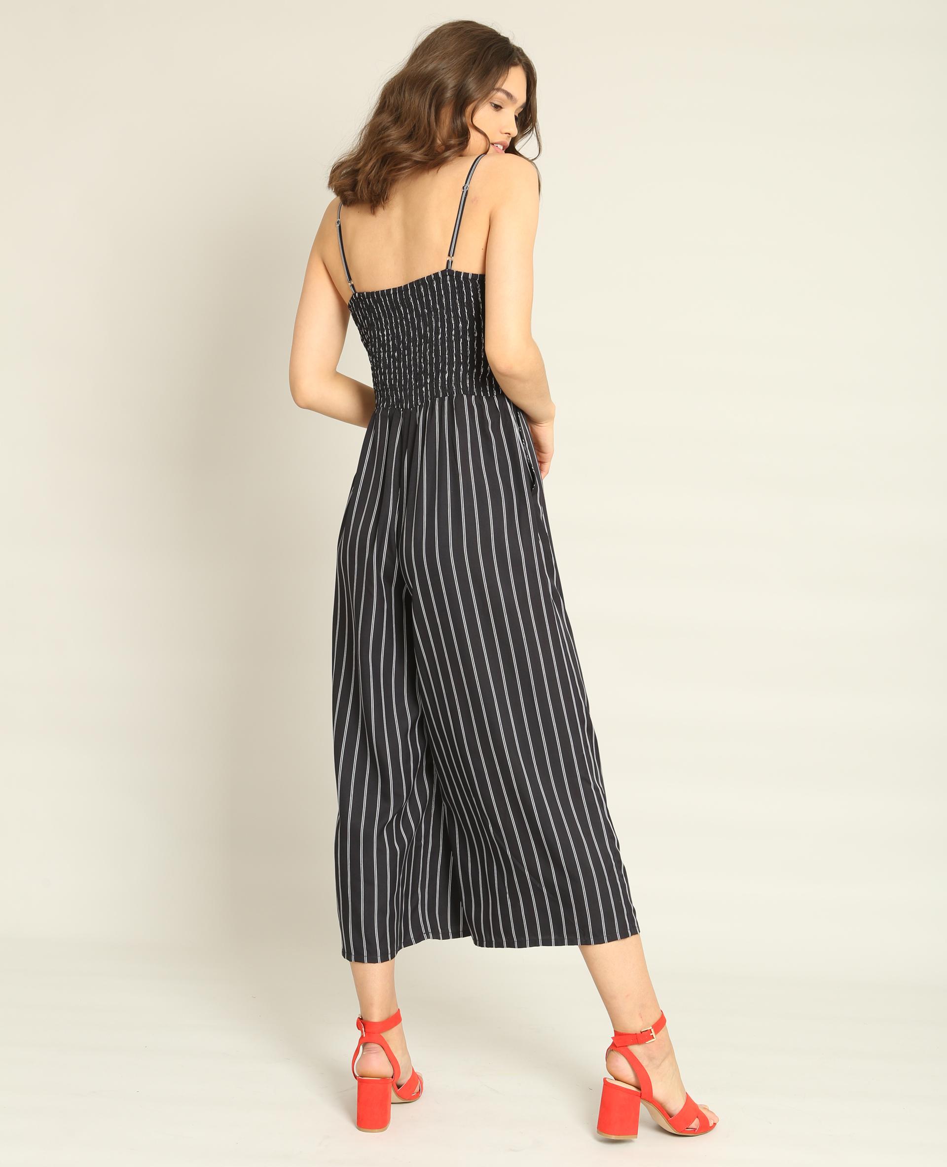 combi pantalon rayures bleu marine 140593635c69 pimkie. Black Bedroom Furniture Sets. Home Design Ideas