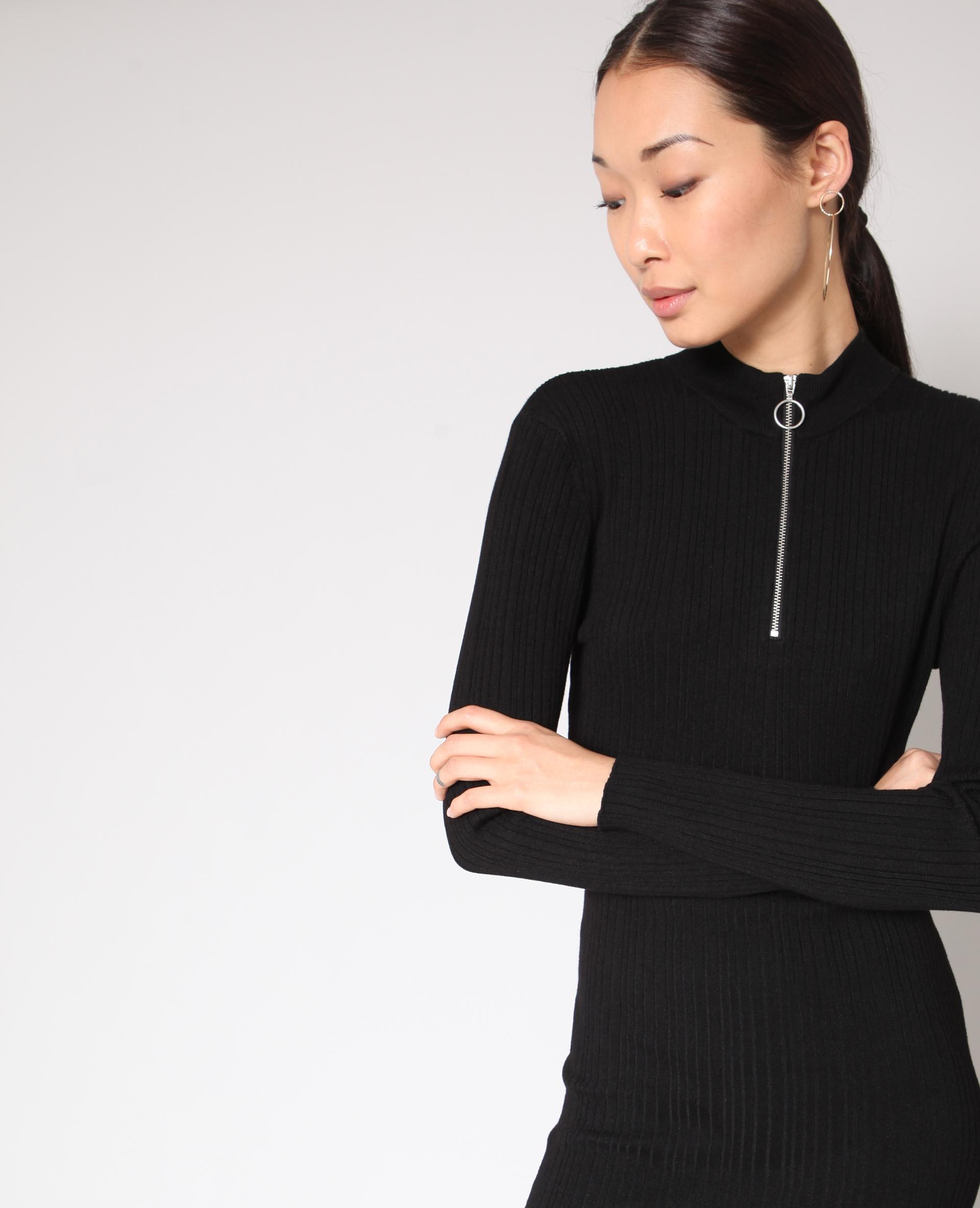 Verwonderlijk Lange strakke jurk zwart - 780914899A08   Pimkie JJ-35