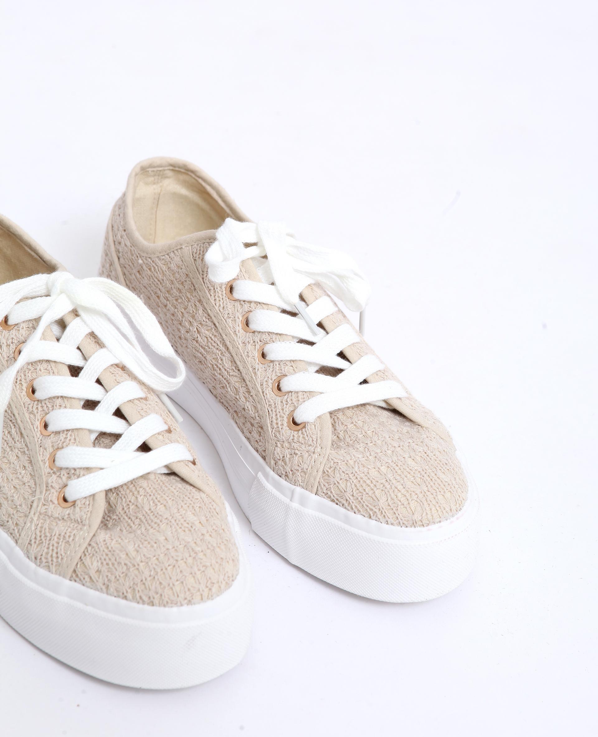 d5cd4dd24d2 Sneakers met dikke zool beige - 916928E03A07   Pimkie
