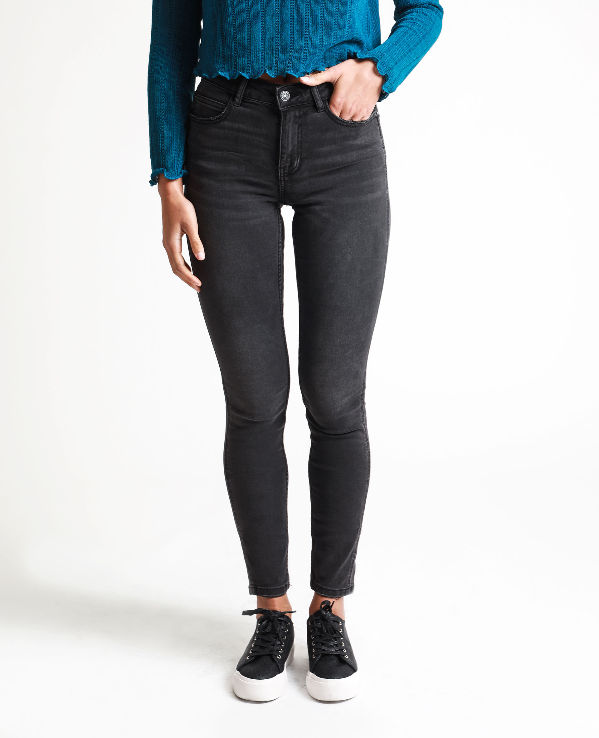 jean skinny taille haute noir 140667899a08 pimkie. Black Bedroom Furniture Sets. Home Design Ideas