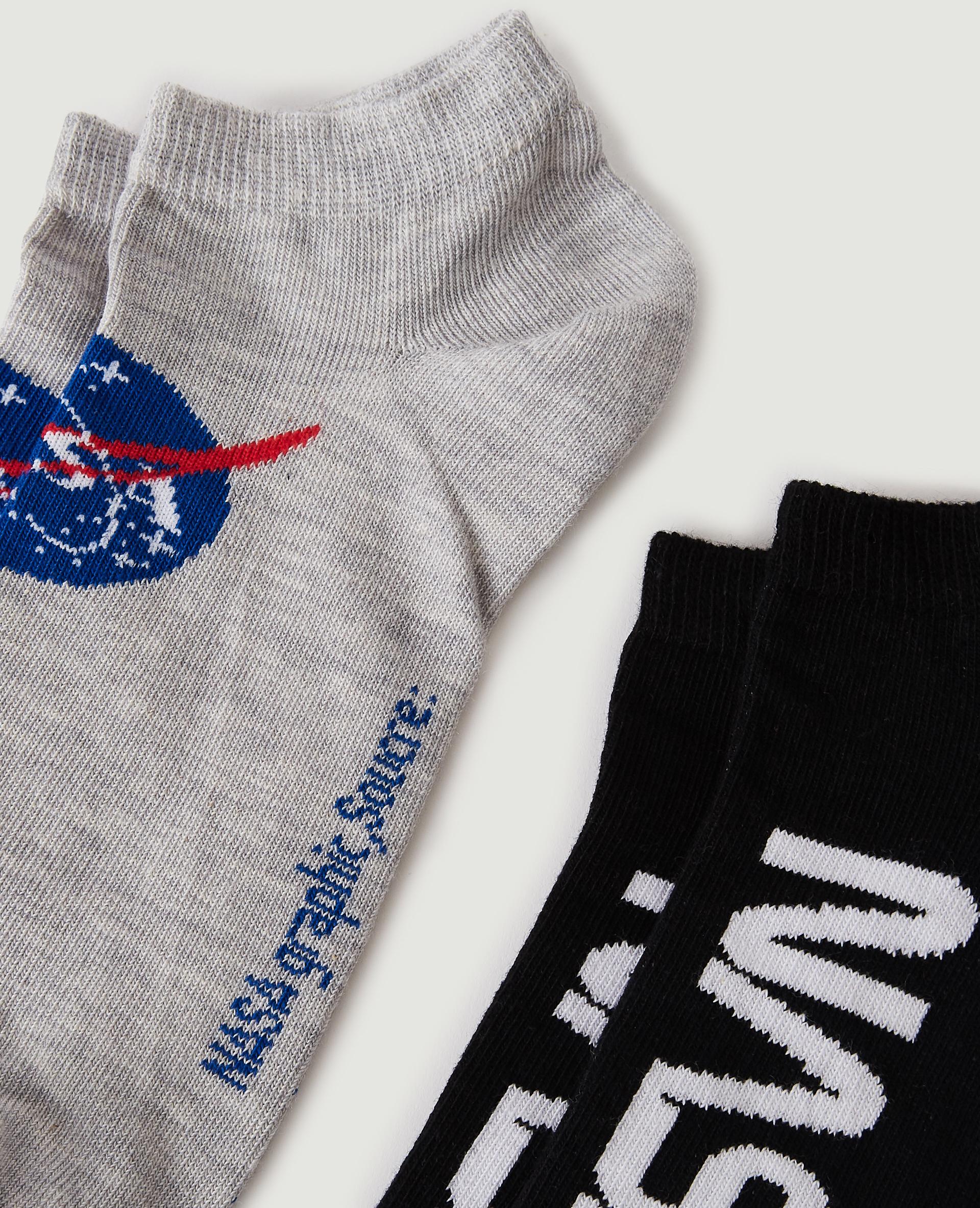Set van 2 paar NASA-sokken zwart - Pimkie