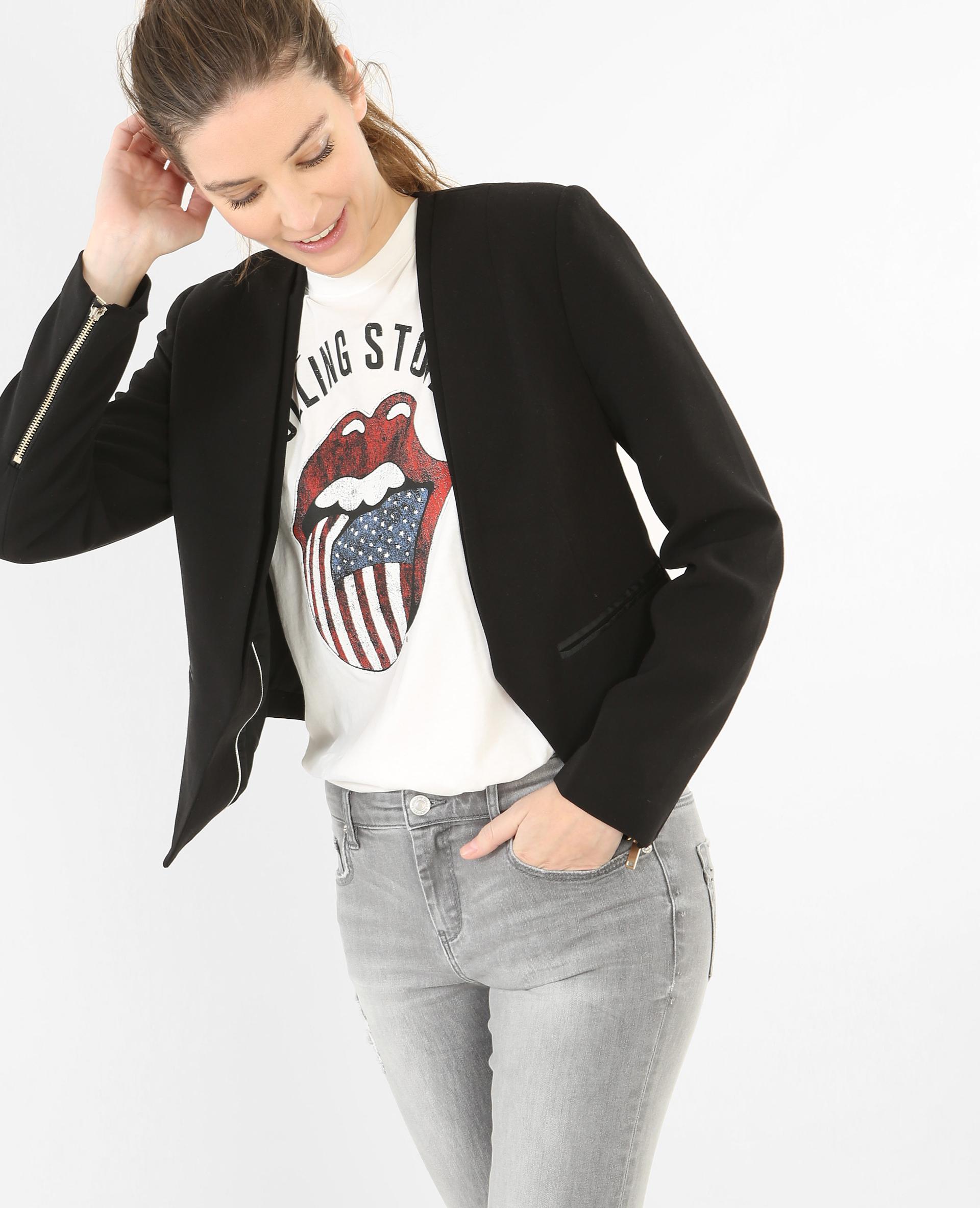 buy online 1f02b 8ec11 Blazer court femme