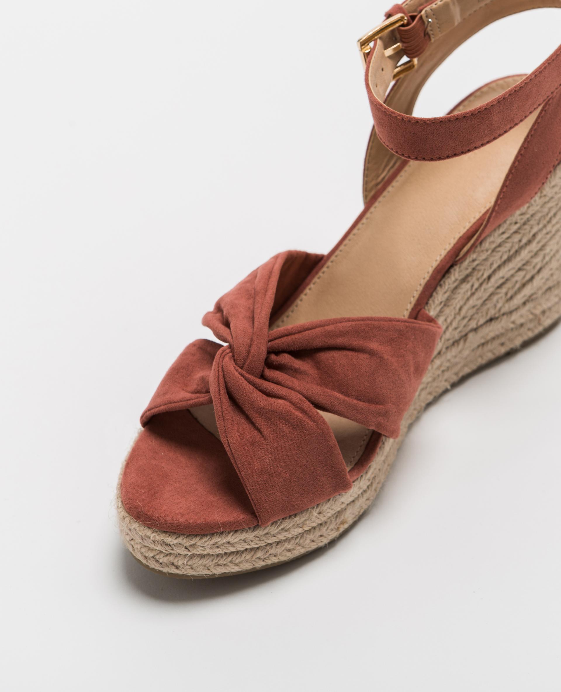 sandales compens es en paille rose poudr 916449i25a02 pimkie. Black Bedroom Furniture Sets. Home Design Ideas