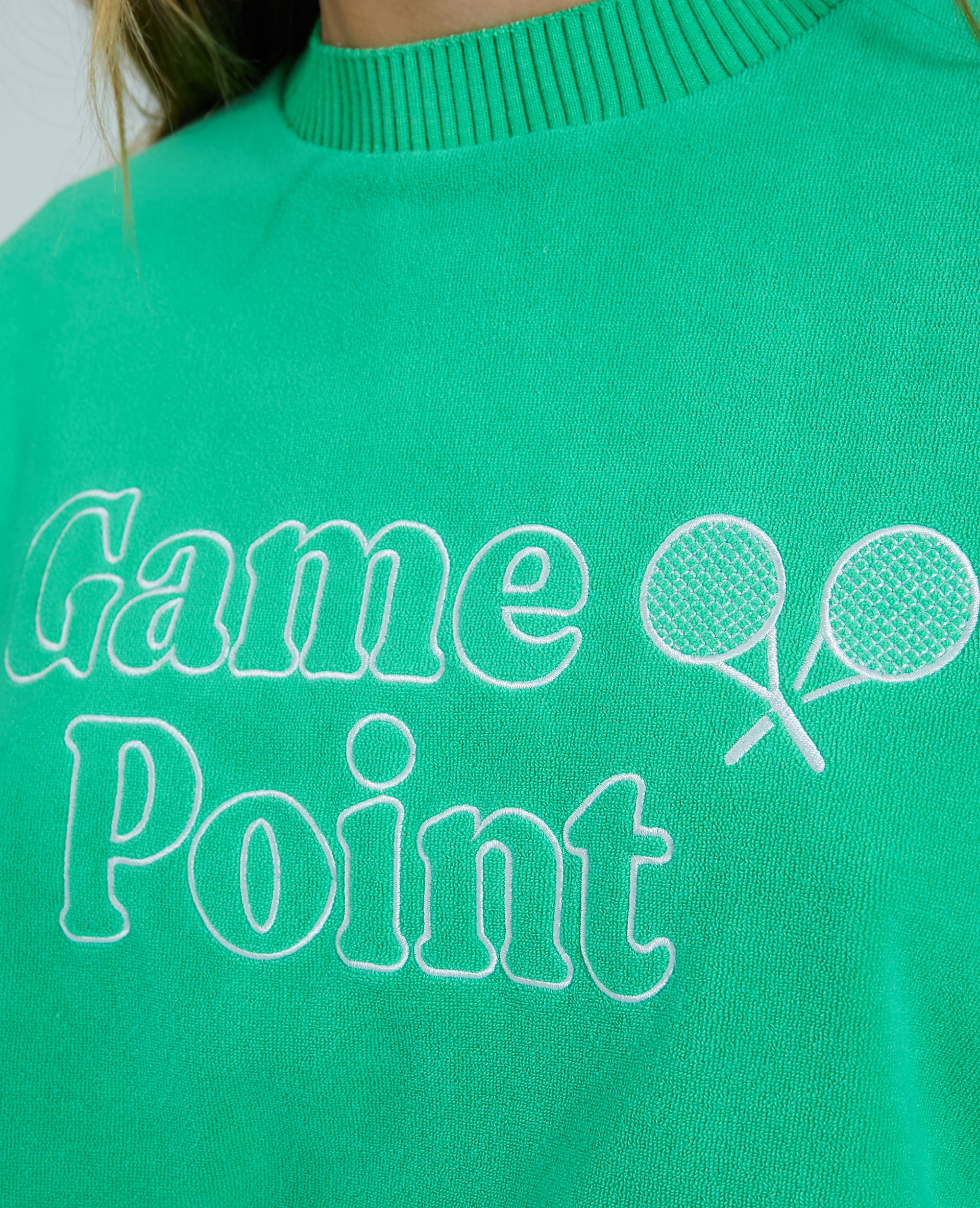 Sweat éponge vert - Pimkie