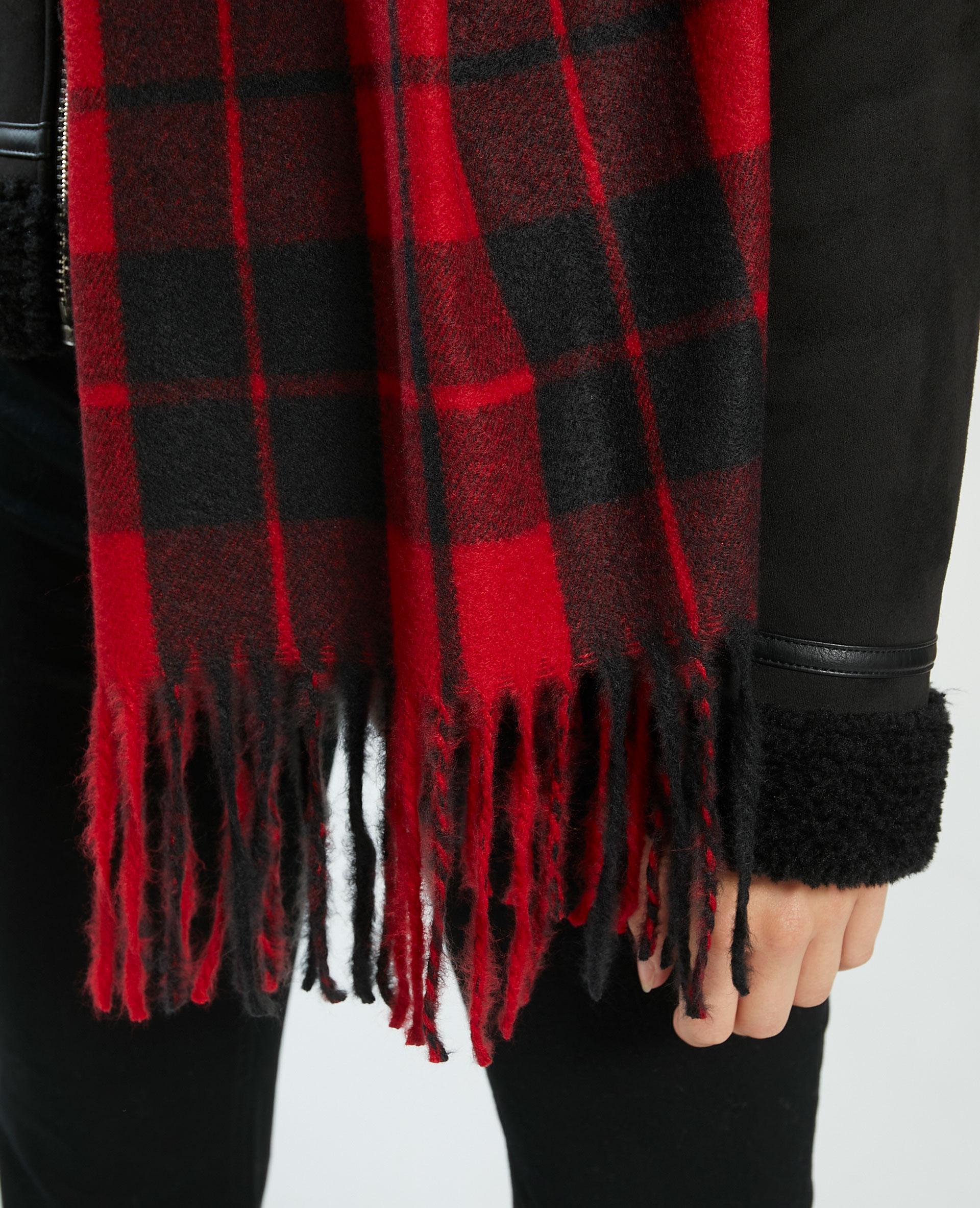Geruite sjaal rood - Pimkie