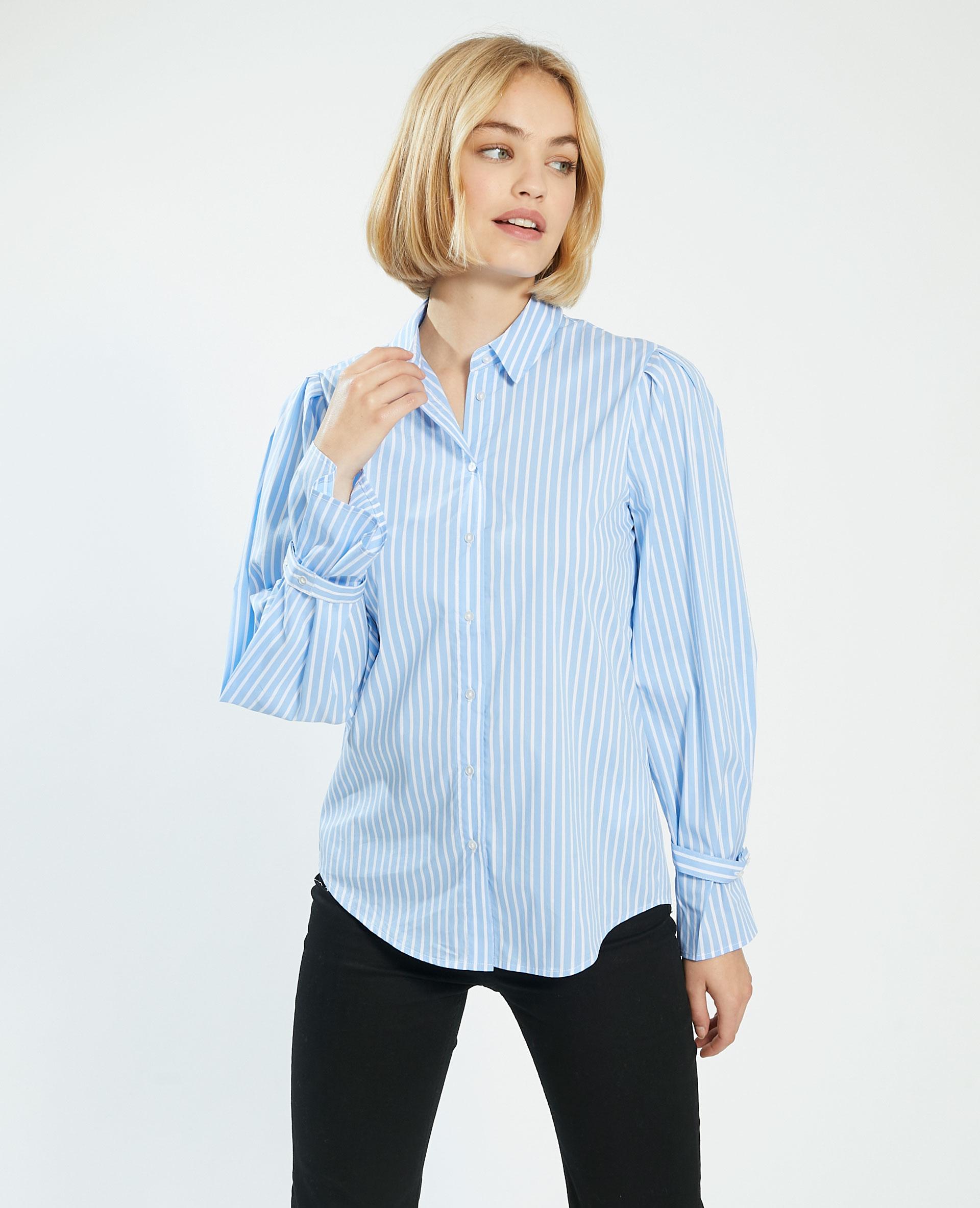 Chemise oversize rayée blanc - Pimkie