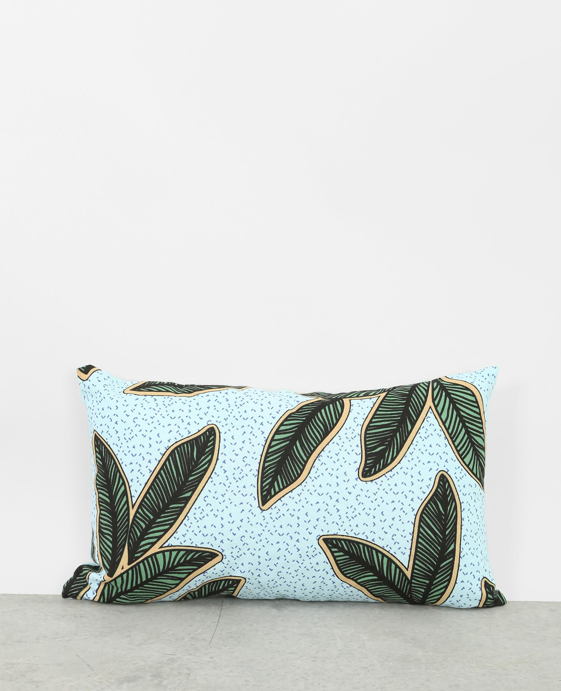 coussin imprim feuilles bleu ciel 907297a60i05 pimkie. Black Bedroom Furniture Sets. Home Design Ideas