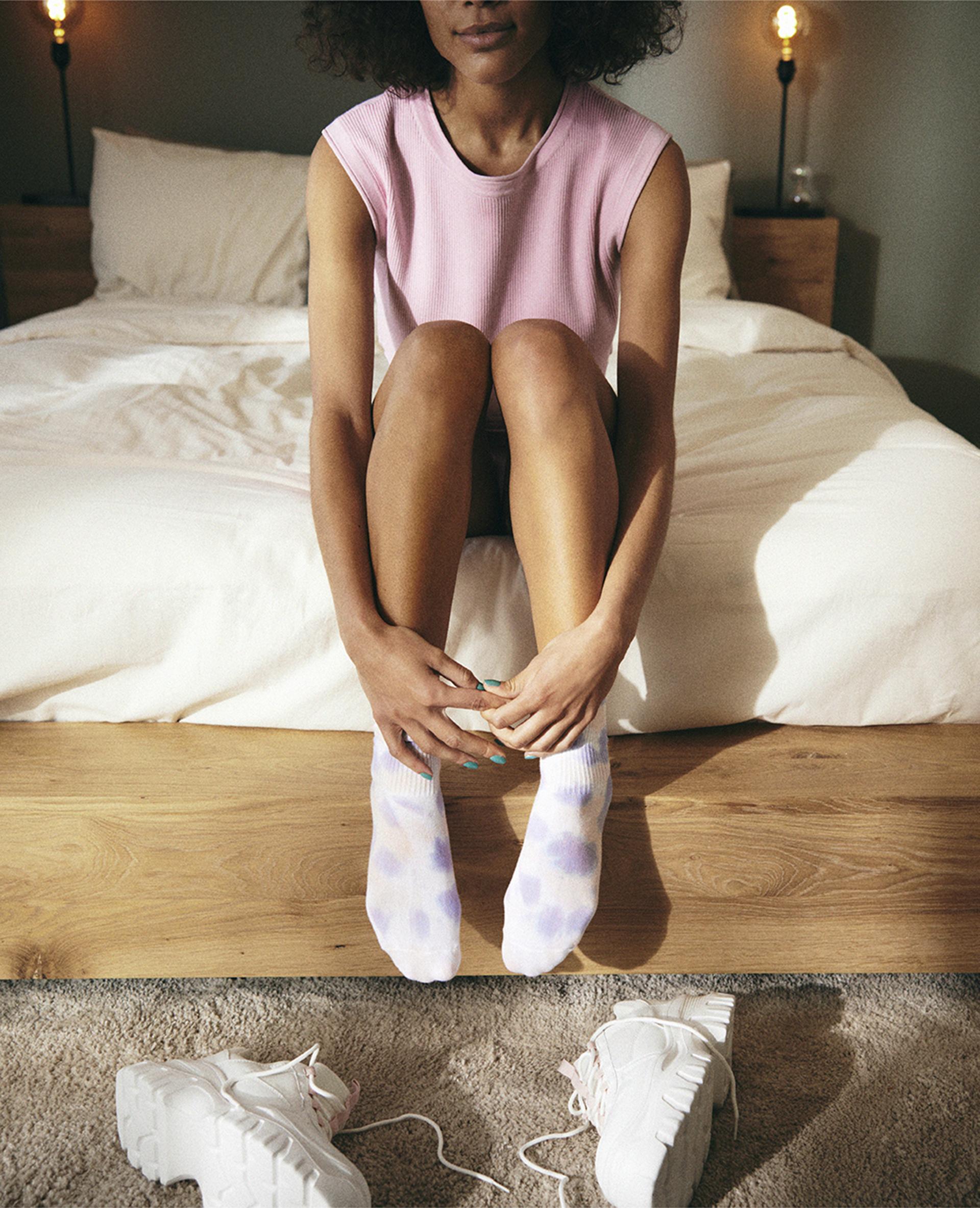 Sokken met tie-and-dye-print violet - Pimkie