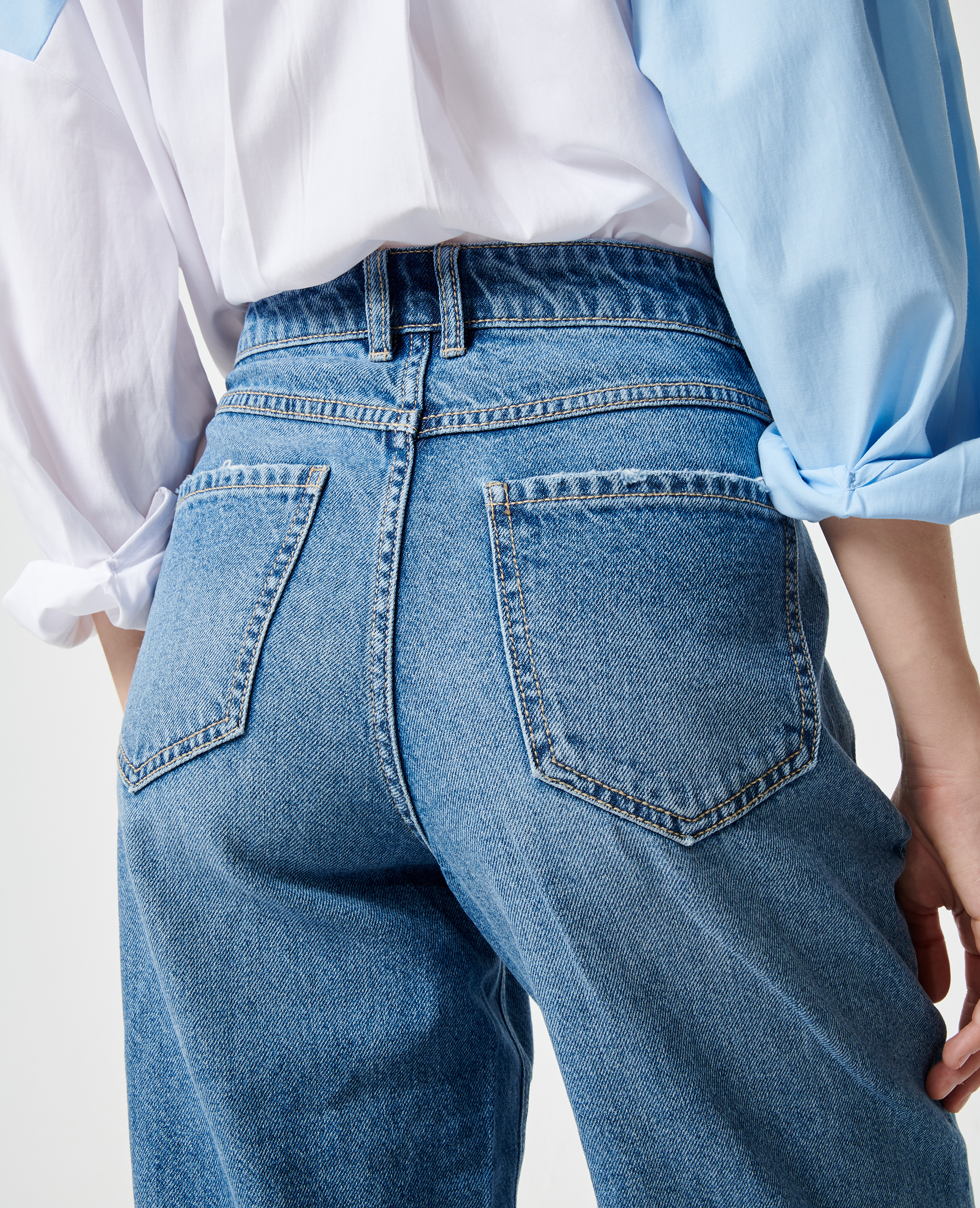 Brede jeans denimblauw - Pimkie