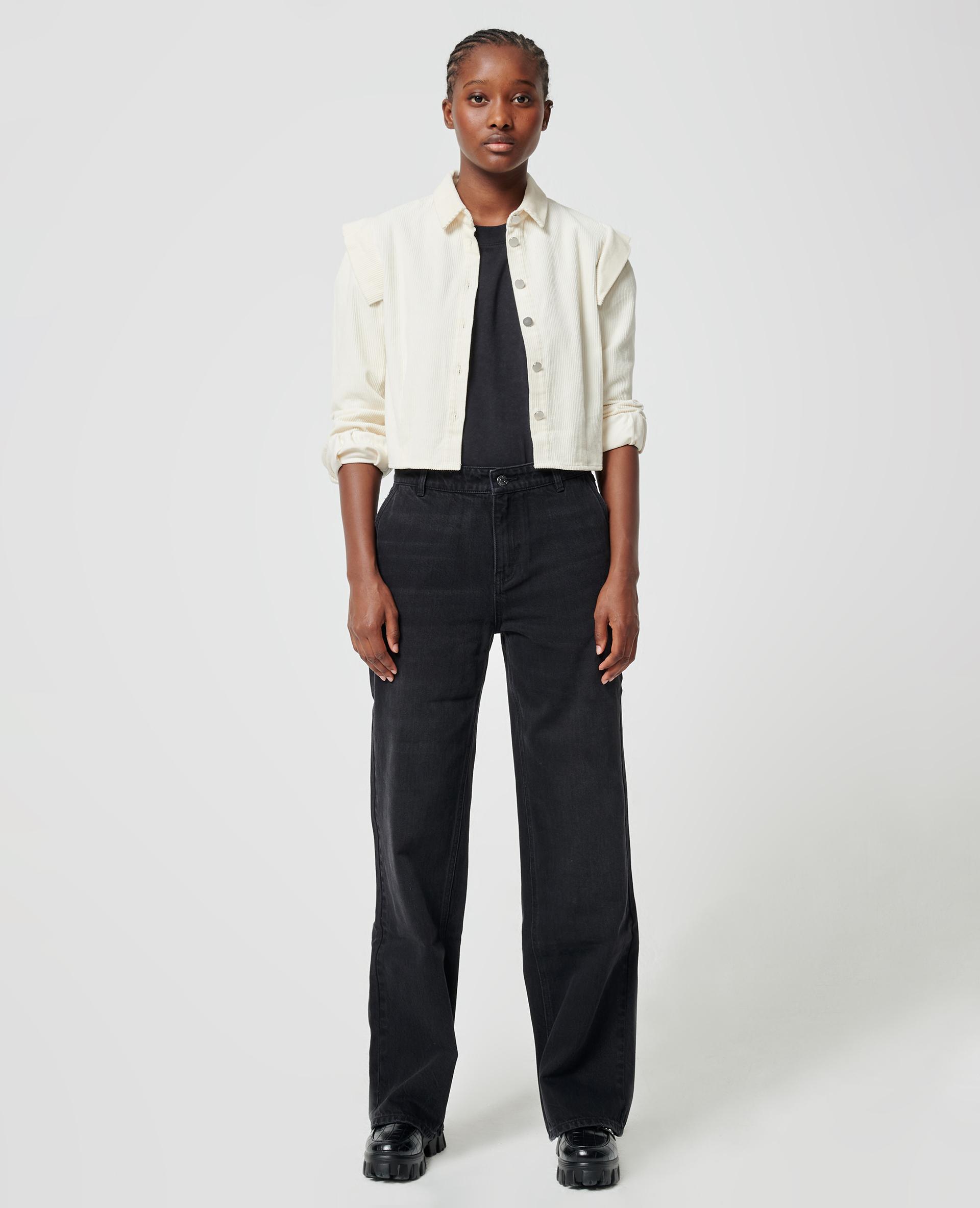 Brede jeans zwart - Pimkie