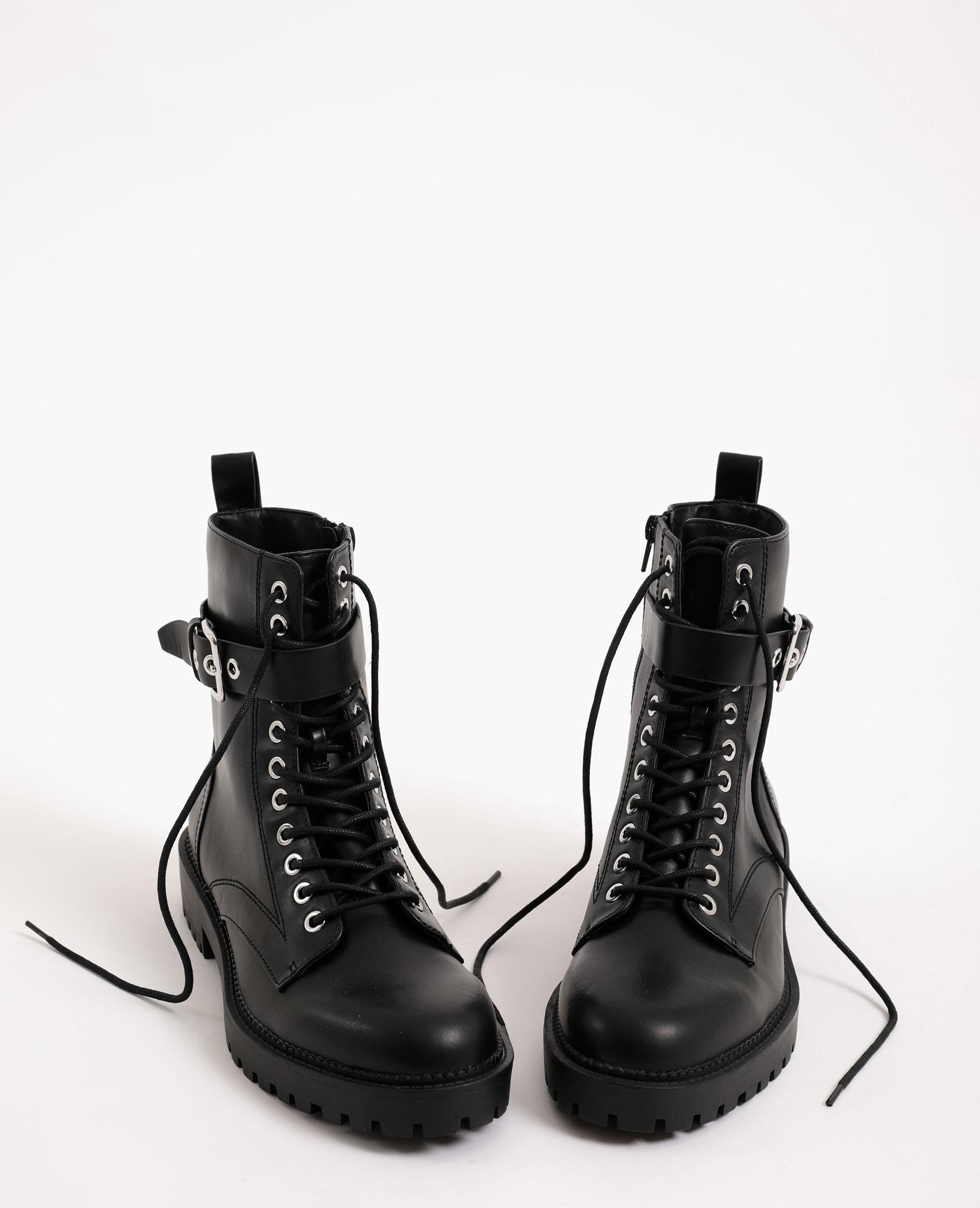 Laarzen van imitatieleer zwart - Pimkie