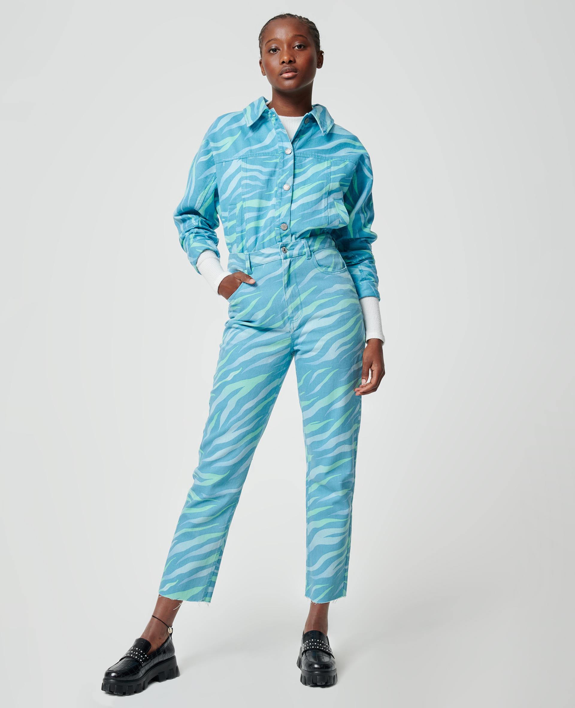 Jeans met zebrastrepen groen - Pimkie