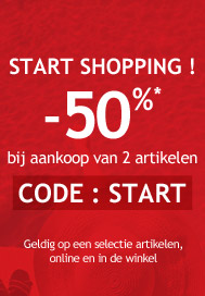 START SHOPPING : 2 ARTIKELEN = -50%*
