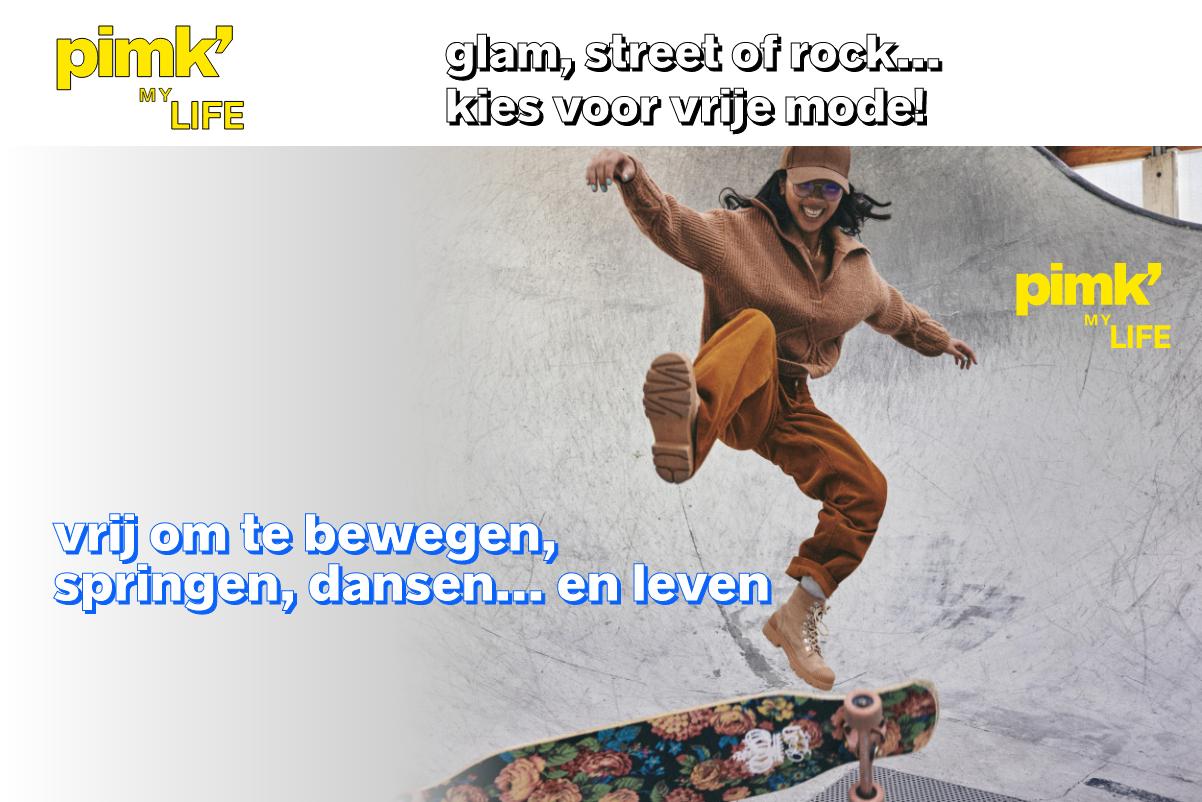 glam, street of rock...  kies voor vrije mode!