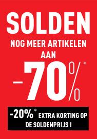 SOLDEN tot -70%* korting