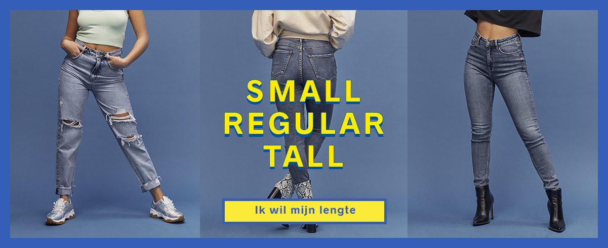 SMALL REGULAR TALL - ik wil mijn lengte